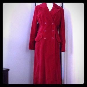 Red Velvet Maxi Coat